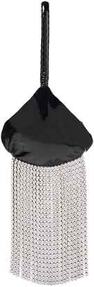 Christopher Kane Crystal-embellished Patent-leather Clutch