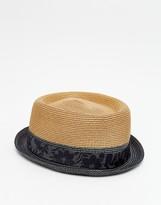 Ted Baker Teapart Straw Porkpie Hat