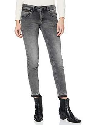 Herrlicher Women's Touch Cropped Denim Black Stretch Slim Jeans,14 (Size: )