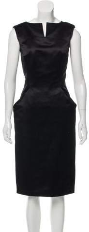 Alexander McQueen Sleeveless Silk Dress