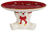Noble Excellence Holiday Mr. Bingle Cake Plate