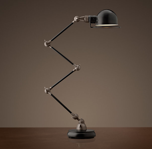 Restoration Hardware Atelier Scissor Task Table Lamp - Black Enamel