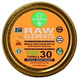 Raw Elements: Tint Facial Moisturizer SPF 30+, 1.8 oz, Protection Against UVA/UVB Rays, Water-Resistant and Gentle on All Skin Types