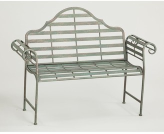 Evergreen Chippendale Style Metal Bench - 53x17.75x39.25