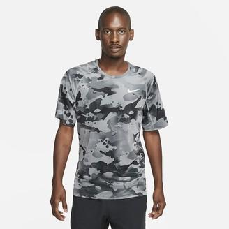 Nike Men's Short-Sleeve Camo Top Pro