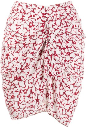 Etoile Isabel Marant Abstract Print Wrap Skirt