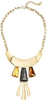 Robert Lee Morris Topaz & Black Diamond & Gold Frontal Necklace