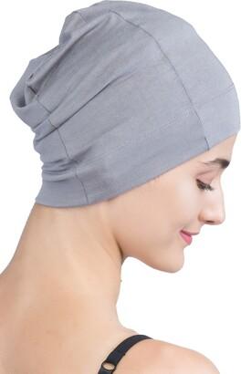 Deresina Headwear Deresina's Unisex Snug Fit Bamboo Sleep Cap for Hair Loss (Grey - One Size)