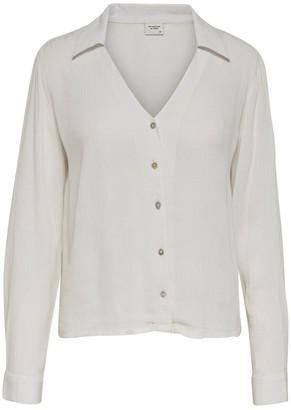 Jacqueline De Yong Long-Sleeved Buttoned Blouse
