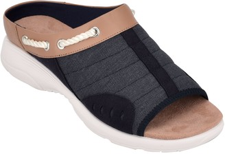 Easy Spirit Slip-on Rounded Toe Sandals - Terra