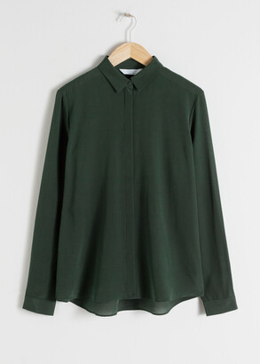 And other stories Straight Fit Silk Shirt