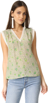 Rebecca Taylor Sleeveless Fleur Top