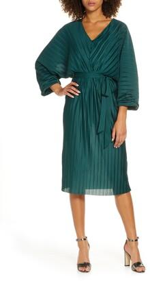 French Connection Regi Dolman Sleeve Plisse Dress