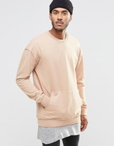 Jack and Jones Crew Neck Sweat with Pouch Pocket Detail