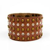 Arizona Crystal and Leather Bracelet