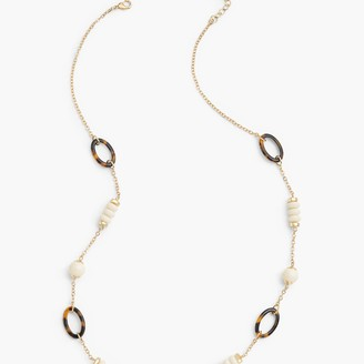 Talbots Ivory & Tortoise Long Necklace
