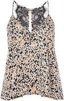MinkPink Mink Pink Cheeta fever sleep cami top
