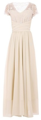 Dorothy Perkins Womens Jolie Moi Beige Lace Maxi Dress, Beige