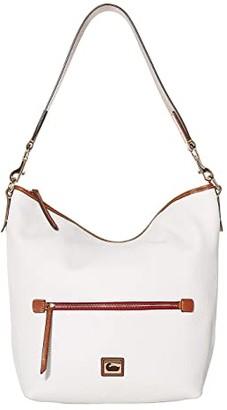 Dooney & Bourke Camden Pebble Hobo (Red/Brandy Trim) Handbags