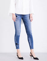 Hudson Nico embroidered super-skinny cropped mid-rise jeans