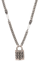 Nicole Miller Lock Pendant Necklace