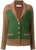 Muveil shawl lapel knitted cardigan