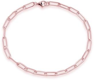 Sterling Forever 14K Rose Gold Plated Sterling Silver Delicate Link Bracelet