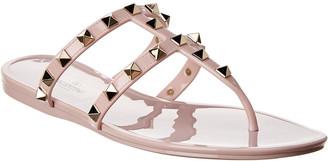 Valentino Rockstud Rubber Sandal