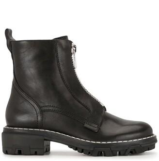 Rag & Bone Shilo leather zip combat boots