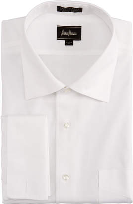 Neiman Marcus No-Iron French-Cuff Pinpoint Shirt