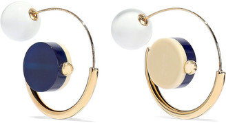 Marni Gold-tone Resin Hoop Earrings