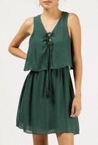Azalea Tassel Tie Front Layered Dress