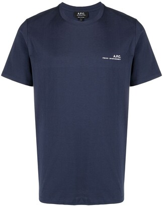 A.P.C. logo print short-sleeved T-shirt