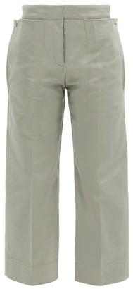 Jacquemus Esterel Cotton-twill Cropped-leg Trousers - Green