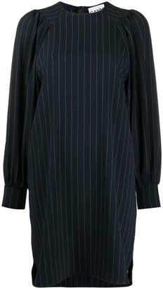 Ganni Pinstripe Mini Dress