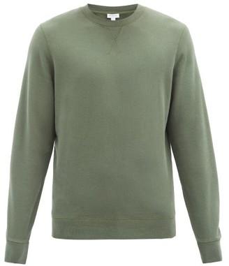 Sunspel Crew-neck Cotton-jersey Sweatshirt - Green