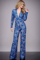 Jovani Floral Lace V-Neck Jumpsuit M50687