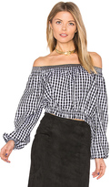 Nicholas Pintuck Off Shoulder Top in Black. - size 4 (also in )