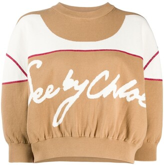 See by Chloe Double-Faced Knit Cropped Jumper