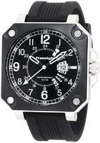 Freestyle Men's 101166 Trooper Square Case Silicone Strap Watch