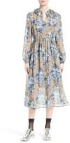 Robert Rodriguez Women's Bouquet Print Silk Dress
