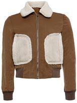Topman DESIGN Brown Nylon Harrington Jacket