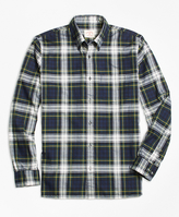 Brooks Brothers Blue Tartan Flannel Sport Shirt