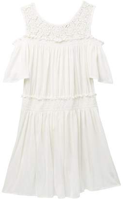 Ella Moss Cold Shoulder Crochet Dress (Big Girls)