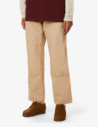 Carhartt Wip Double knee relaxed-fit straight organic-cotton trousers