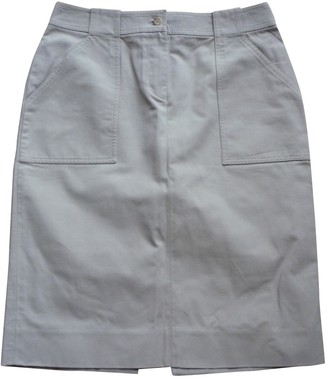 Celine Khaki Cotton Skirt for Women Vintage