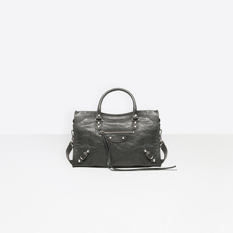 "Balenciaga Small size lambskin hand carry and shoulder bag with ""classic"" shiny hardware"