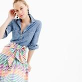 J.Crew Petite tie-front skirt in rainbow gingham