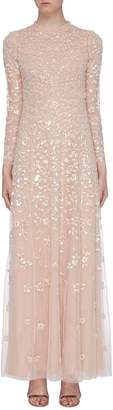 Needle & Thread 'Rosmund' sequin floral tulle gown