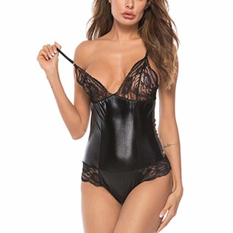Jiegorge Lingerie Nightwear Sexy Women Lingerie Plus Size Lace Leather Sexy Siamese Sexy Underwear Sleepwear